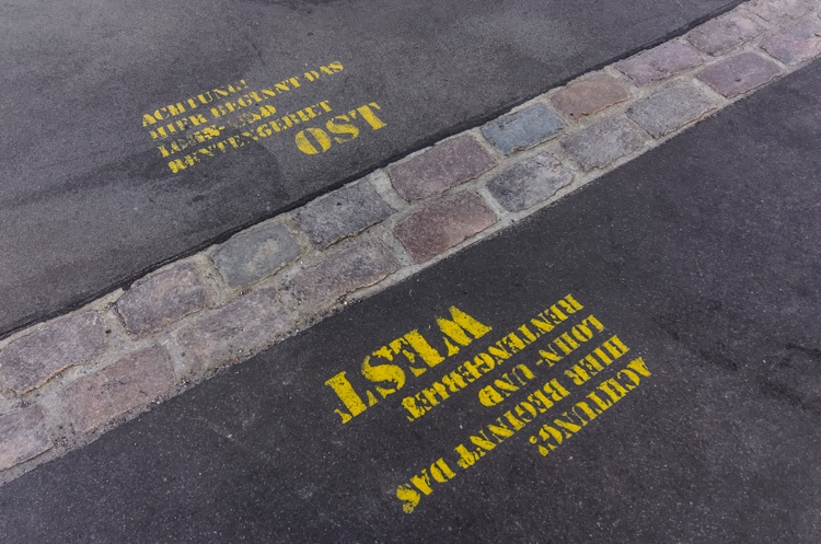 Subject Genius, Stuart Ratcliffe, New faces, same history, Demarcation line in Berlin