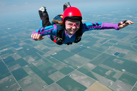 picture of skydiver