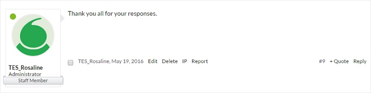 Published comment