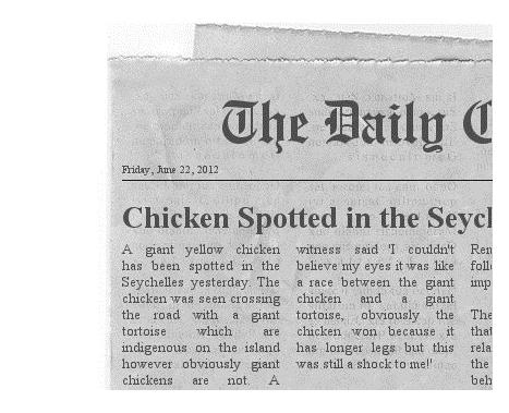 short newspaper articles