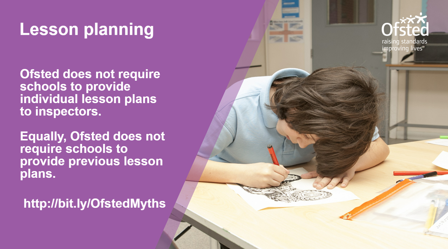 Lesson planning - what Ofsted doesn't require