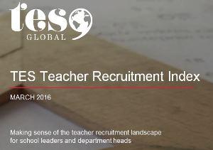 TES Teacher Recruitment Index