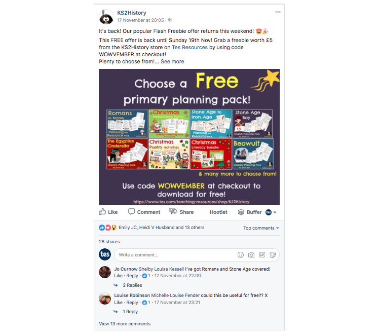 Author tips for promoting your resources on Facebook | Tes