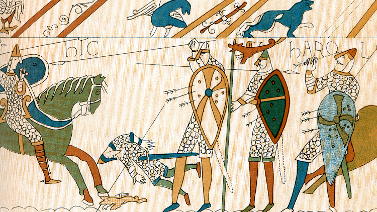 Image of the Bayeux Tapestry to investigate the Battle of Hastings in primary and secondary classrooms
