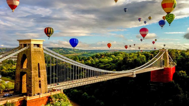 Clifton Suspension Bridge in Bristol, South West England