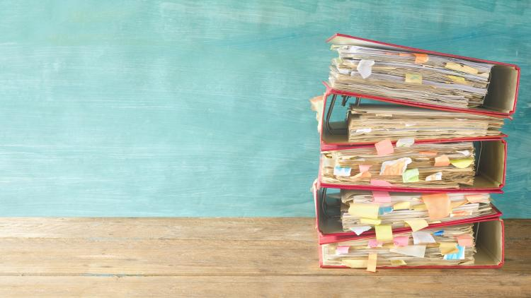 English folder with schemes of work