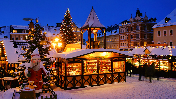 European Christmas market to represent French, Spanish and German Christmas lessons, activities and games to be used with secondary students