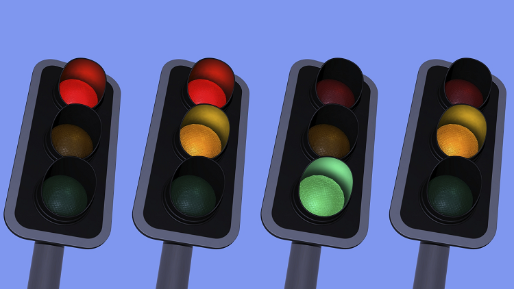 Traffic Lights Representing The A Common Noise Control System