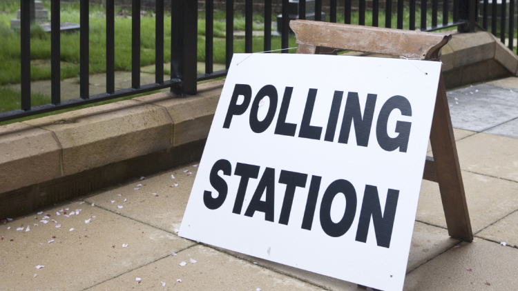 picture of polling station