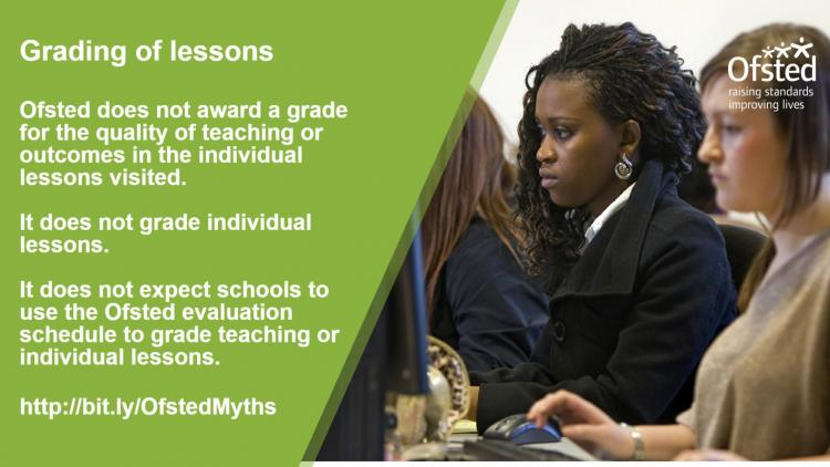 Ofsted myths - lesson grading