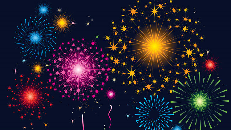 Picture of Fireworks on post about Bonfire Night resources for EYFS and primary pupils