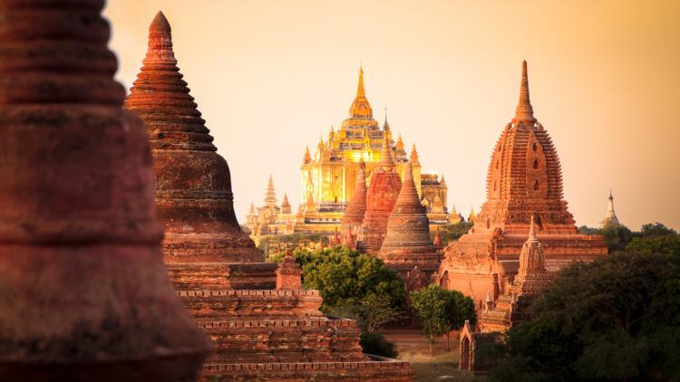Ancient temples in Myanmar