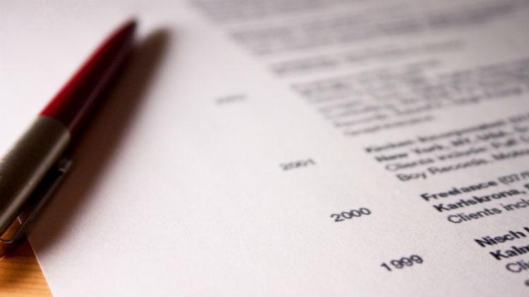 A CV and pen