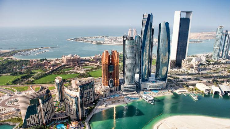 A View Of Abu Dhabi In The Uae