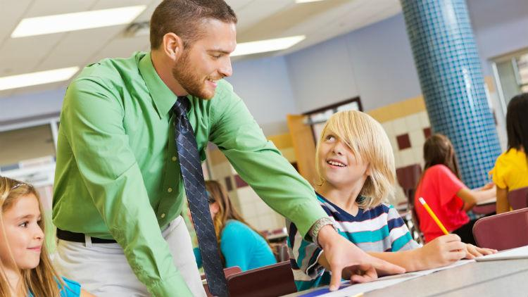 A teaching assistant interview with children