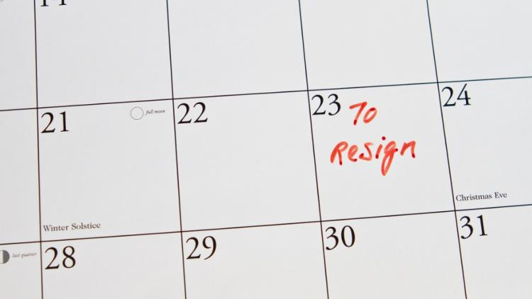 Teacher resignation dates