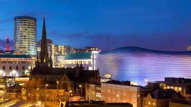 Birmingham in the West Midlands