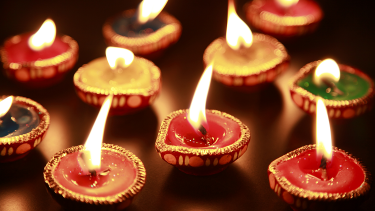 Diva lamps celebrating Diwali in the EYFS and primary classrooms
