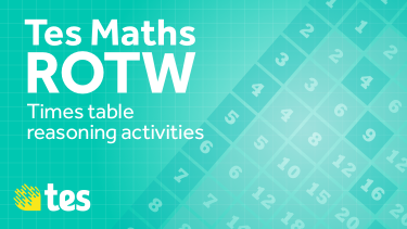 times tables maths ROTW
