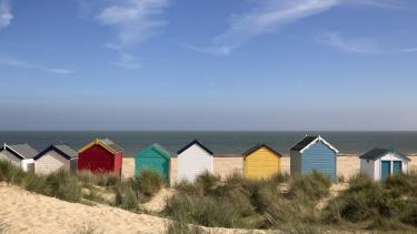 Beach huts in the East of England