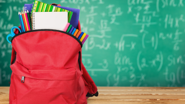 Backpack full of stationary to help children remain organised and ready for school