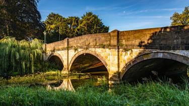The bridge in Melton Mowbray, East Midlands
