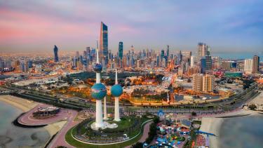 The skyline in Kuwait City