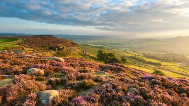 A view of the Peak District in North West England