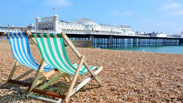 A view of the pier at Brighton