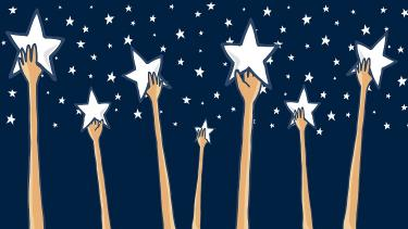 Primary pupils reach for the stars at the start of the new year