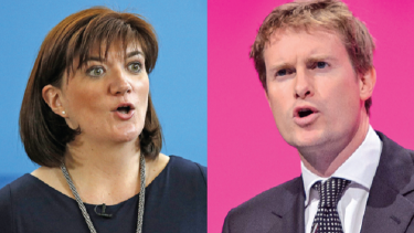 picture of nicky morgan and tristram hunt