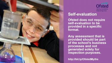 Ofsted myths - self-evaluation