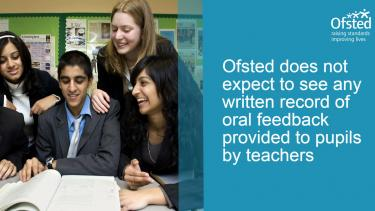 Ofsted myths - pupils' work