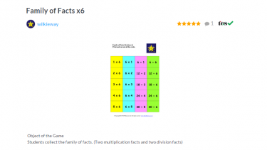 TES Maths ROTW Family of facts