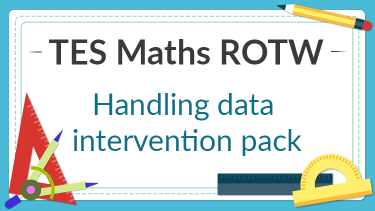 TES Maths, ROTW, secondary, data handling, interpreting data, intervention pack, test, booklet, questions, revision, GCSE, KS4, Year 10, Year 11