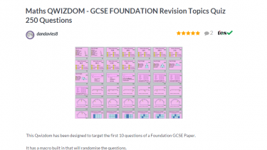 TES Maths ROTW Foundation GCSE revision quiz