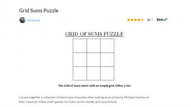 TES Maths ROTW Grid sums puzzles,tes maths,rotw,maths,secondary maths,ks3,ks4,maths resources,grids,grid sum puxzzles
