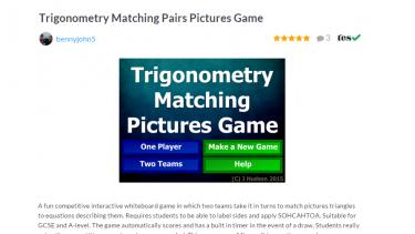 TES Maths ROTW trigonometry