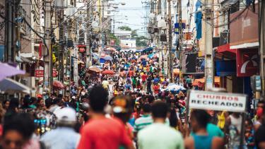 A street scene in Brazil