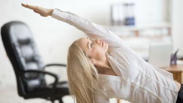 A teacher demonstrating flexible working