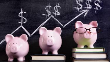 A teacher's piggy bank