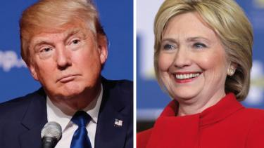 Trump, Clinton, presidential race, debate, teachers, students