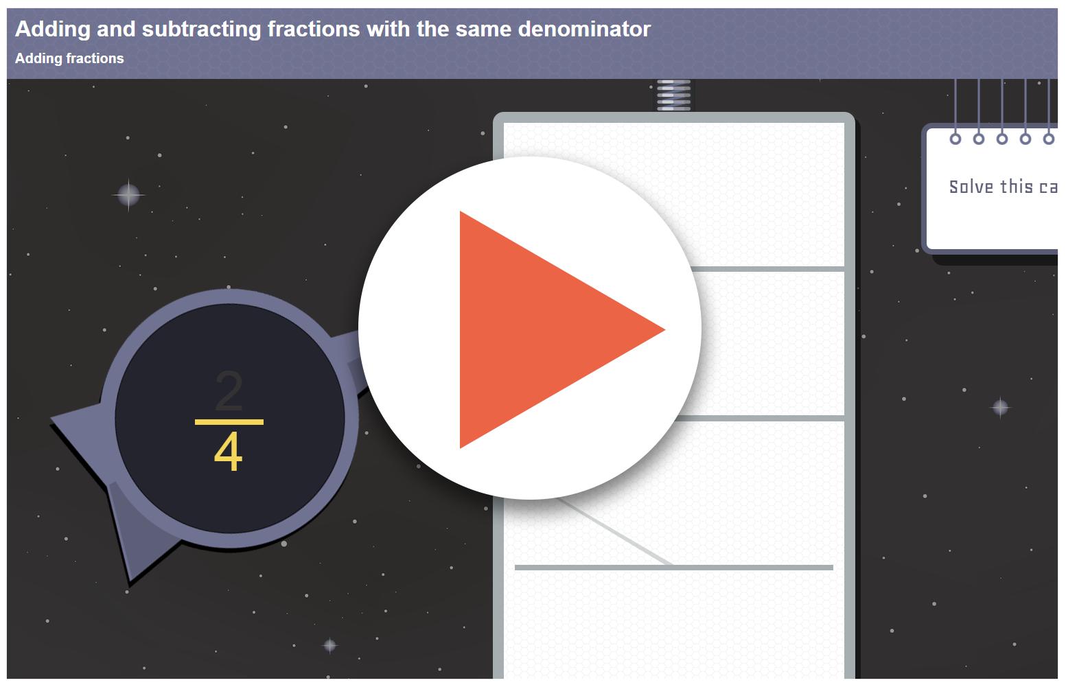 Adding fractions worksheet ks2 tes