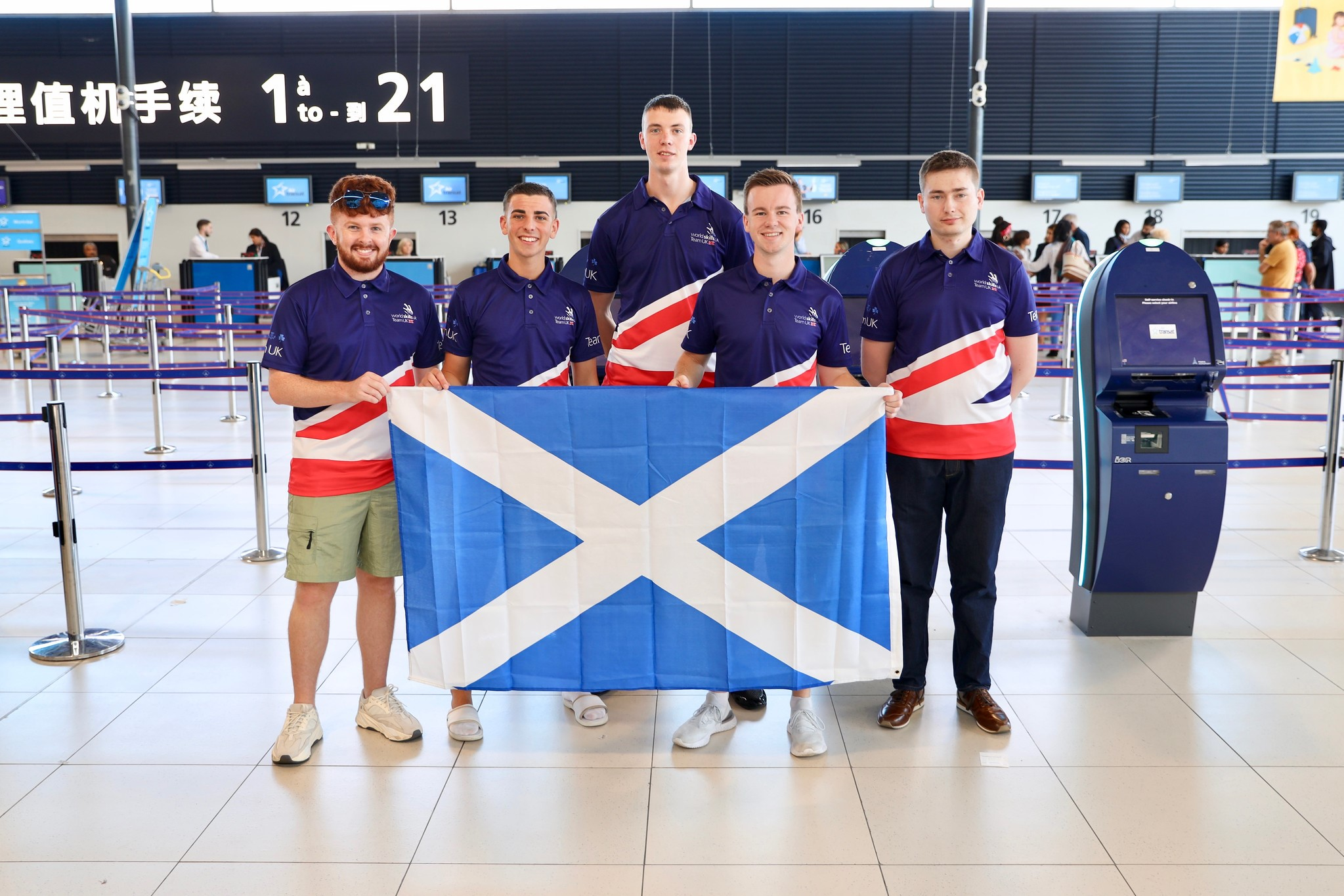 Team UK for WorldSkills Kazan 2019 - the five competitors trained in Scotland