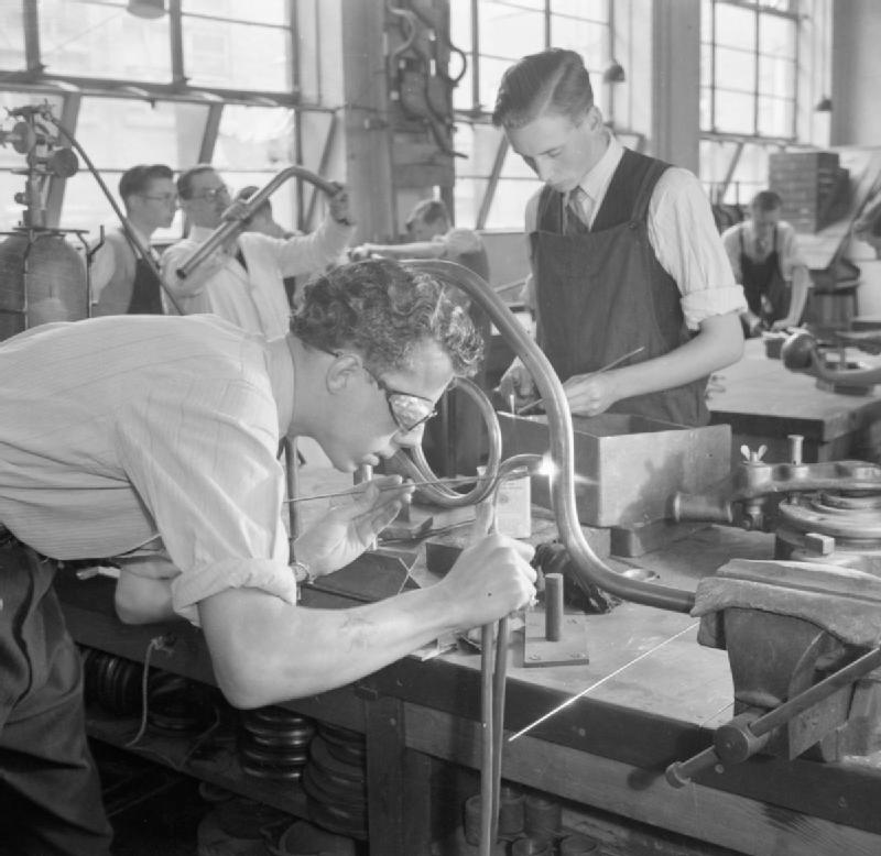 Training at Tottenham Polytechnic in the 1940s