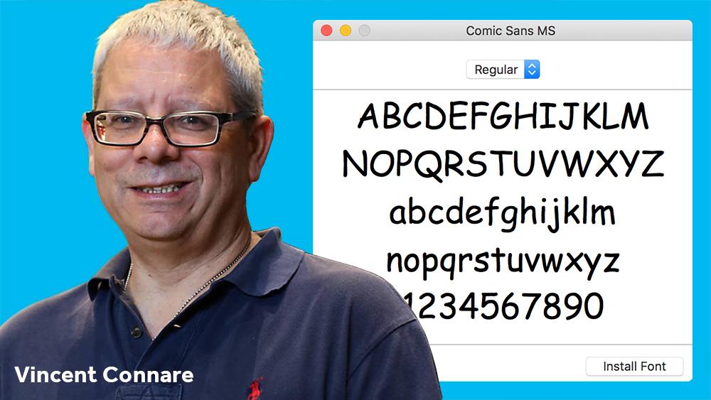 الخط Comic Sans مع مصممه Connare - الخط Comic Sans
