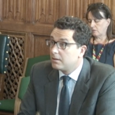 Edward Timpson giving evidence about his report on school exclusions to the Commons Education Select Committee