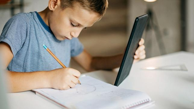 child using i-pad