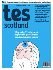 Tes Scotland cover 11/10/19