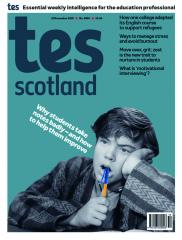 Tes Scotland cover 22/11/19